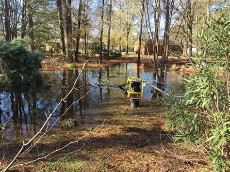 backyard flooding warner robins woman says city should help alleviate
