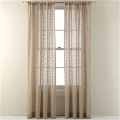 jc penney sheer curtains royal velvet 174 stanza rod pocket sheer panel found at