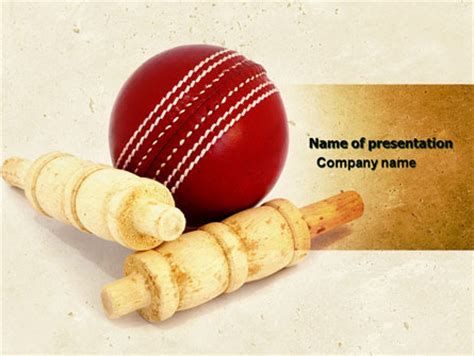 cricket themes for ppt cricket ball presentation template for powerpoint and