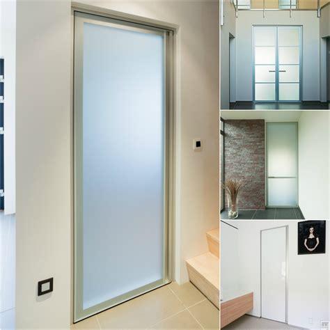glass doors with an aluminium frame around the glass