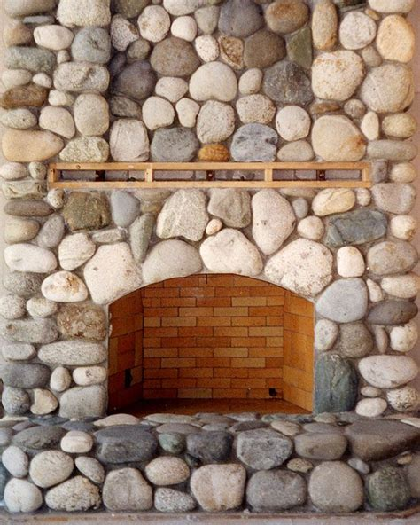 Faux River Rock Fireplace Panels by River Rocks River Rock Fireplaces And Rock Fireplaces On