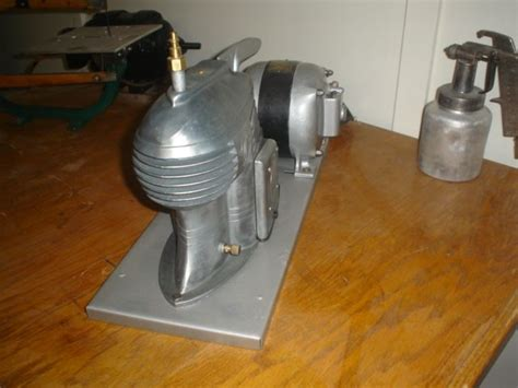 speedy air compressor from the 1940 s the deco design is sought after by deiselpunk fans