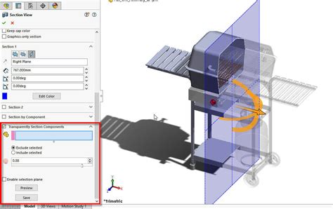 solidworks section view solidworks transparent section view is new for 2017 release