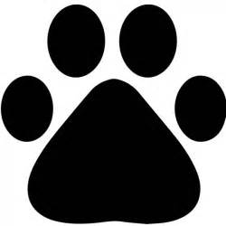 Paw Print Wall Stickers paw print silhouette wall sticker animal wall art
