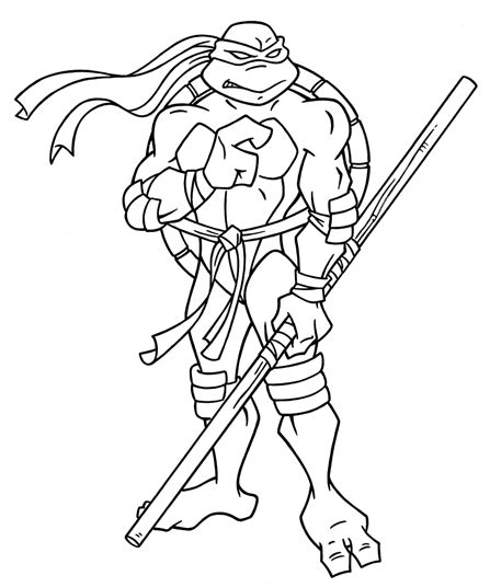 free coloring pages of ninja turtle face