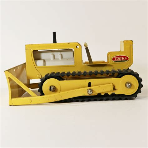tonka steel toys vintage tonka toys bulldozer pressed steel no 300