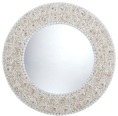 flower pattern wall mirror floral pattern clam shell framed mirror round wall