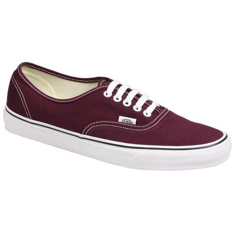 vans maroon shoes vans authentic mens canvas skate sneaker fig maroon shoes