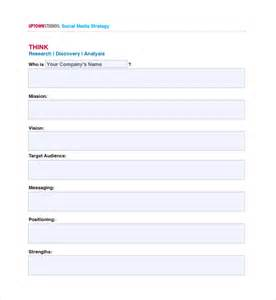 social media plan template free sle media plan template 6 documents in pdf