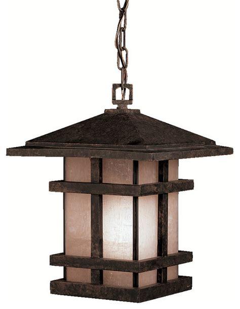 Craftsman Outdoor Lighting Kichler Lighting 9829agz Cross Creek Bronze Outdoor Hanging Lantern Craftsman Outdoor