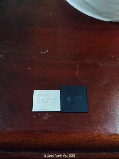 apple a9 alleged iphone 6s screen resolution a9 chip leaked pics