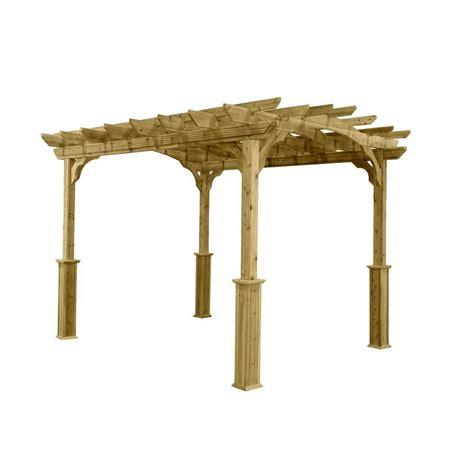 pergola 10 x 12 10 ft x 12 ft wood pergola pa1012 the home depot