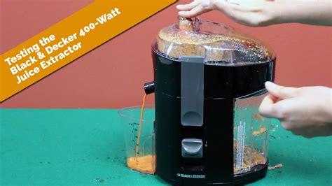 Juicer Black And Decker testing the black decker 400 watt juice extractor