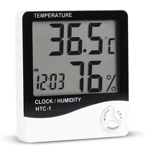 Hygrometer Thermometer Htc 1 Termometer Ruangan Digital Lcd Htc 1 Indoor Room Lcd Digital Electronic Thermometer Hygrometer Measuring Temperature Humidity