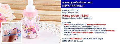 Karet Rambut Sepasang Karet Rambut Import Karet Rambut Anak jual karet rambut cyan fashion wholesale grosir baju