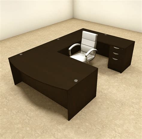 U Shape Office Desk 4pc U Shaped Modern Executive Office Desk Ot Sul U4 Ebay