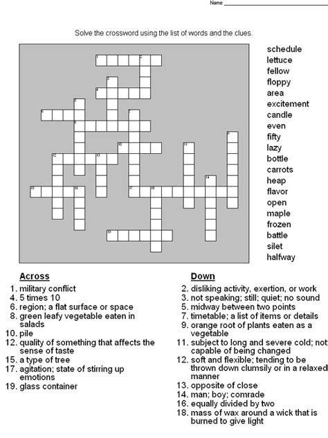 printable puzzles grade 5 crossword puzzles for 5th graders activity shelter