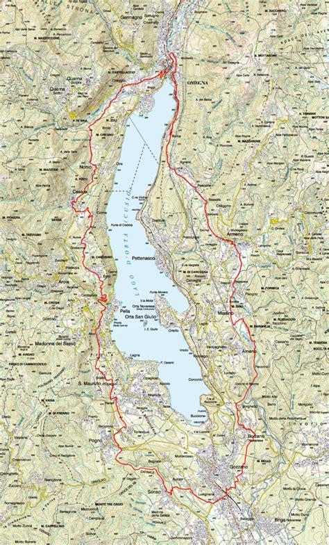karte der radrouten 32 gr 195 188 ne tour des lago d 226 orta - Was Ist Die Grüne Karte