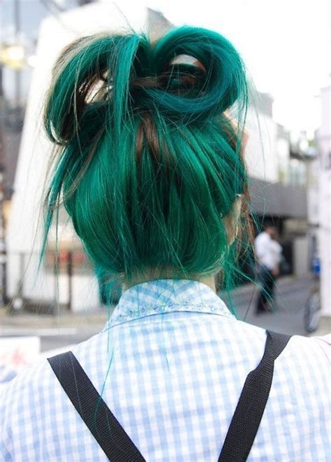 Light Green Hair by Light Green Hair Via Image 2423157 By Marky On