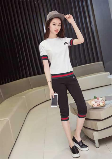 Setelan Pakaian Setelan Celana Panjang setelan pakaian santai celana pendek terbaru da066
