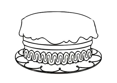 coloring happy birthday cakes candles pages birthday cake coloring pages with candle and no candle