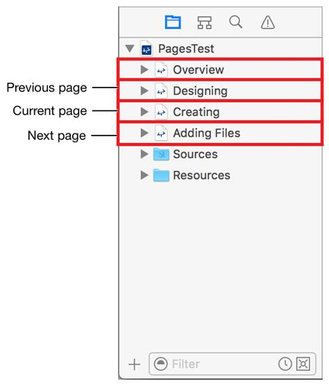 format date xcode markup formatting reference named page