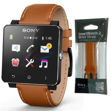 Sony Smartwatch Sw2 Leather Rubber Wrist Band Se20 Berkualitas new genuine sony se20 leather wrist band for