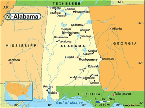 political map of alabama alabama political map by maps from maps world s