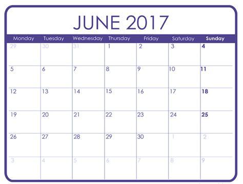 June Calendar June 2017 Printable Calendar Templates Free Printable