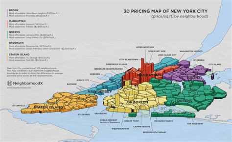 new york neighborhood map wanna the nyc neighborhoods where real estate prices are going up check this 3 d map out