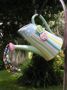 Whimsical Garden Decor by Butterfly Pitcher Garden Decor Whimsical Watering Can Beaded