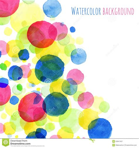 colorful round wallpaper abstact background watercolor painted round splashes