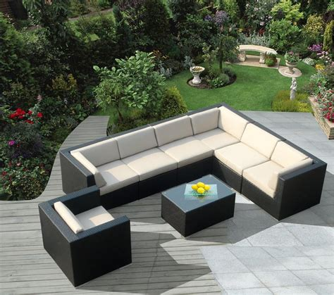Patio Furniture Sectional 25 Awesome Modern Brown All Weather Outdoor Patio Sectionals