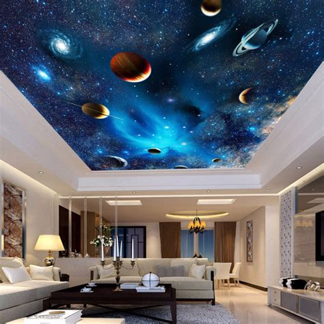 space themed wall murals aliexpress buy custom 3d space mural wallpaper astronomical galaxy planet landscape