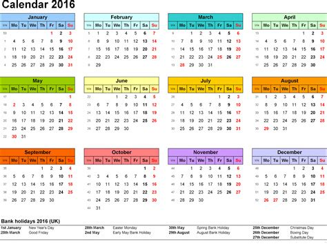 Free Calendar Printable Template by Free Printable Calendar Templates 2016