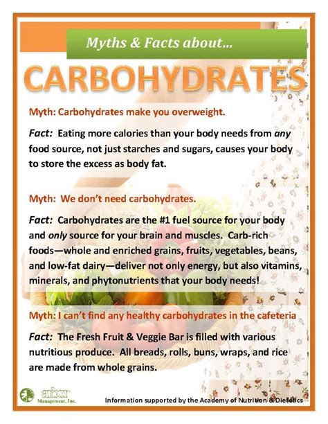 carbohydrates facts facts about carbohydrates facts about