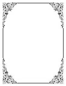 Elegant black frame clipart clipartfest