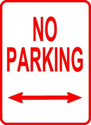 no parking signs template parking sign template clipart best