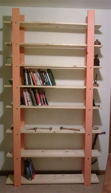 cheap easy low waste bookshelf plans woodworking