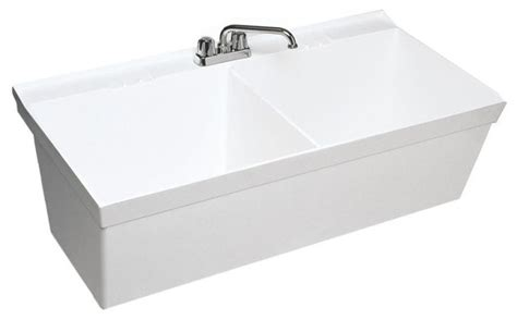 Veritek Bathtub by Swan 23 375x45 375x13 Veritek Utility Tub White Utility