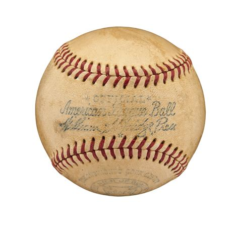 Lot Detail Babe Ruth Single Signed American League