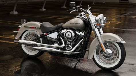 Harley Davidson White Brown 2018 harley davidson softail deluxe review gallery top