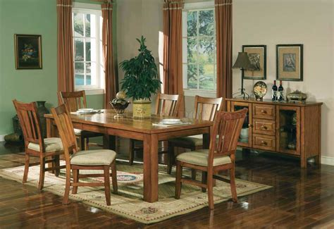 Light Oak Dining Room Chairs Light Oak Finish Casual Dining Room Table W Optional Chairs