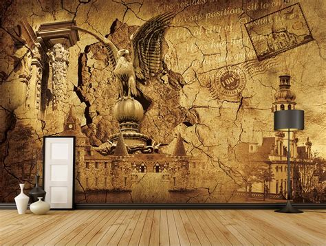 custom 3d wall mural european retro backdrop photo wallpaper for living room 3d mural