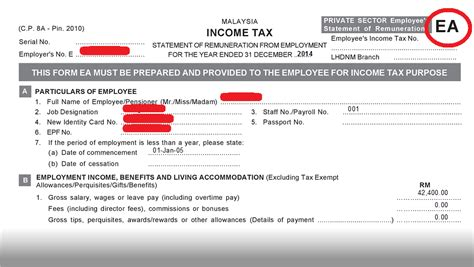 malaysia ea form employee what happens when malaysians don t file their taxes