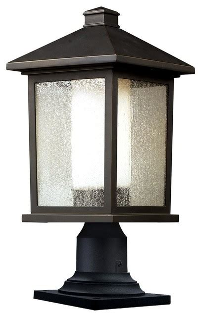 Houzz Outdoor Lighting Post Light In Rubbed Bronze Finish Contemporary L Posts By Shopladder