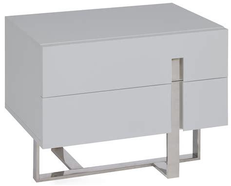 Table De Chevet Gris Laque