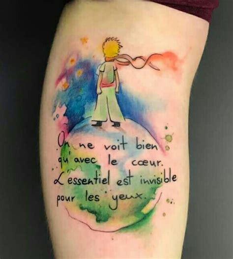 watercolor tattoo c est quoi on ne voit bien qu avec le coeur l essentiel est