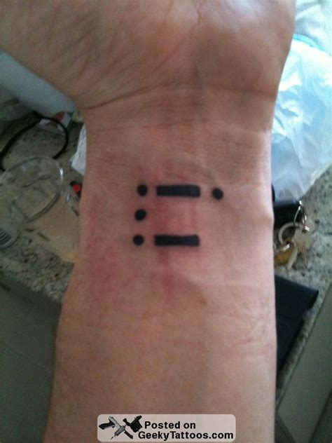 morse geeky tattoos