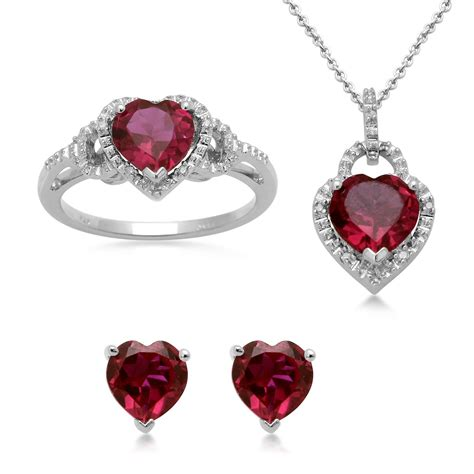 ruby ring ruby ring necklace set